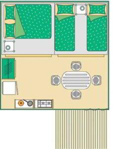 location bungalow verdon plan