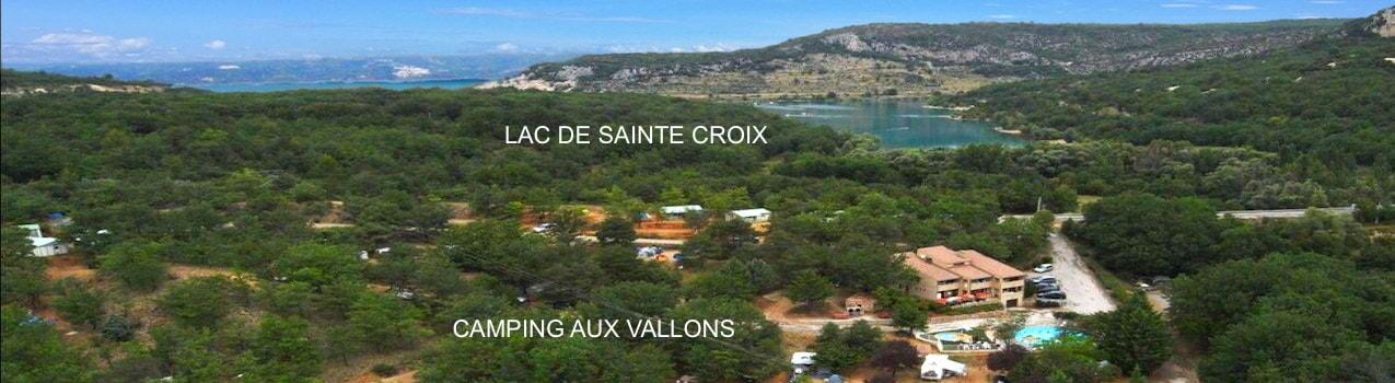 camping au bord du lac de Sainte Croix en Verdon